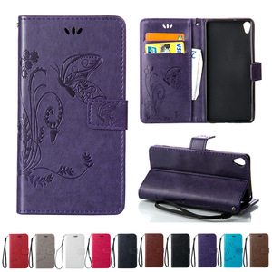 "Case For Sony Xperia XA Dual F3111 F3112 F3116 5.0"" Butterfly Flip Phone Leather Cover for Sony Tuba Xperia X A F 3111 3112 3116"