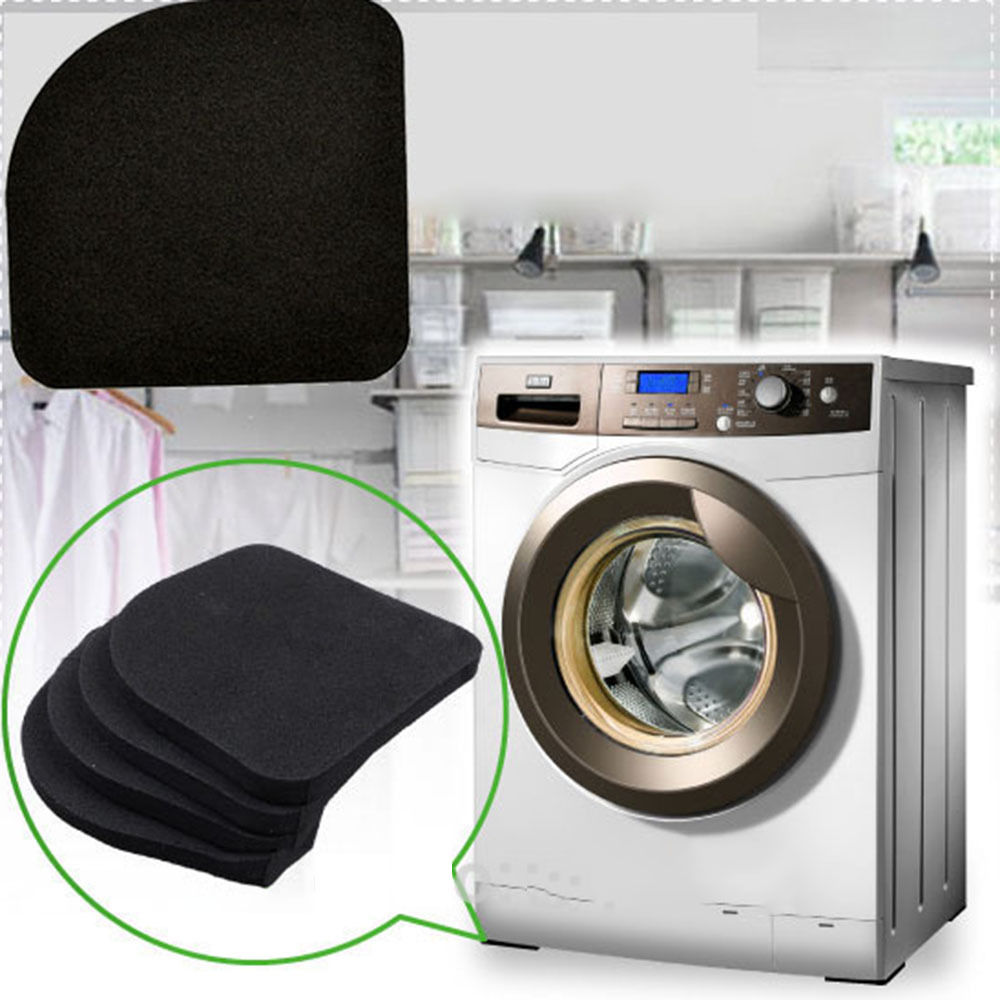 4pcs Set Black Multifunctional Washing Machine Shock Pads