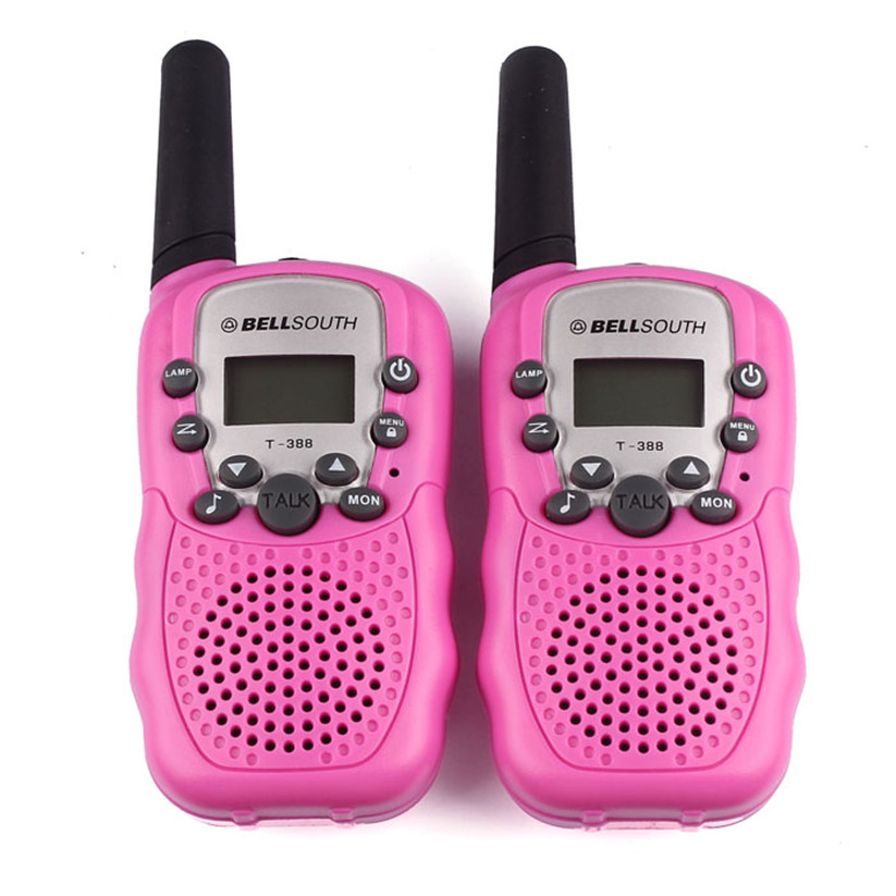 Del 2pcs Wireless Walkie-talkie Eight Channel 2 Way Radio Intercom 5KM Pink Td919 Dropship