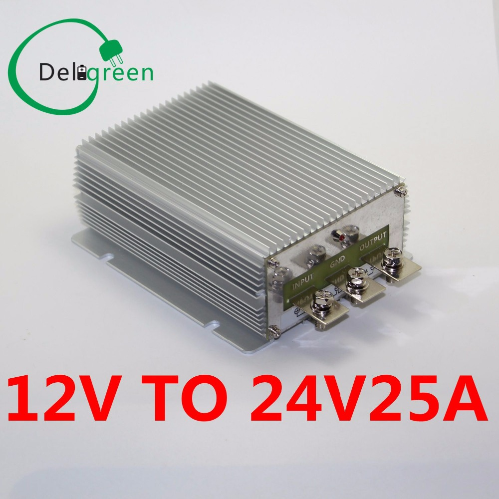 12V to 24V25A 600W wide input DC DC Converter Regulator Car Step up boost module power supply free shipping waterproof regulator module step up dc 10v 12v 18v to dc 19v 15a 285w for solar power system voltage converter transformer