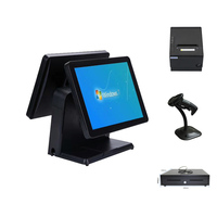 All in One Retail Point of Sale System Including 15'' Touch Screen,80mm Receipt Printer,Scanner and Cash Drawer HS 151BPSC