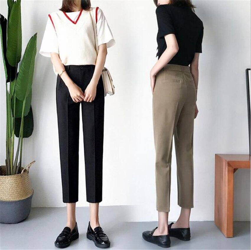 MLCRIYG 2018 primavera y verano nueva versión coreana slim Pantalones
