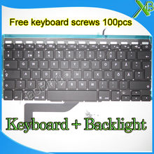 Brand New For MacBook Pro Retina 15.4″ A1398 SE Swedish Sweden keyboard+Backlight Backlit+100pcs keyboard screws 2013-2015 Years