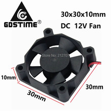 10pcs/lot XH2.54 2Pin Mini 30mm DC 12V Computer PC VGA Video Heatsink Cooler Cooling Fan