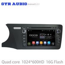Android 5.1 Car DVD GPS for Honda city 2014 2015 2016 with Quad Core 1024*600 Radio 3G Wifi Mirror-Link usb ipod dvd Free map