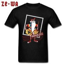 Hawaii Honolulu Santa Roshi T Shirts Poster Stamp 3D Funny Print New Tshirts Dragon Ball Beach Surfer Cartoon T-Shirt Men 2019
