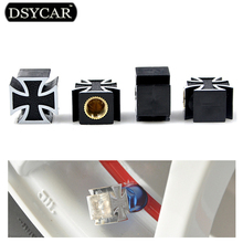 * DSYCAR 4Pcs/lot Universal Car Moto Bike Tire Wheel Valve Cap Dust cover Car Styling for Fiat Audi Ford Bmw toyota VW Lada opel
