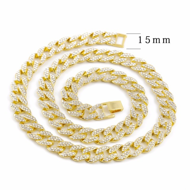 Iced Out Cuban Rhinestone Thick Necklace 8