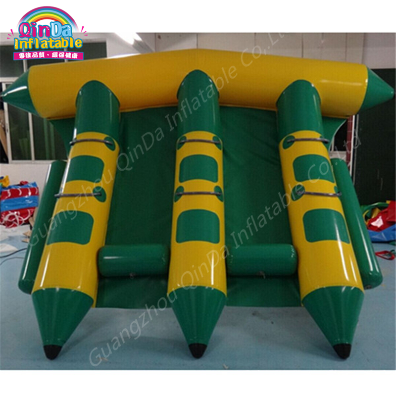 Inflatable flying fish water sports equipment for 6 players,flying fish towable, inflatable flying banana boat tube flying banana boat wave surfing flying mantaray inflatable boat inflatable flying toward water sport toy