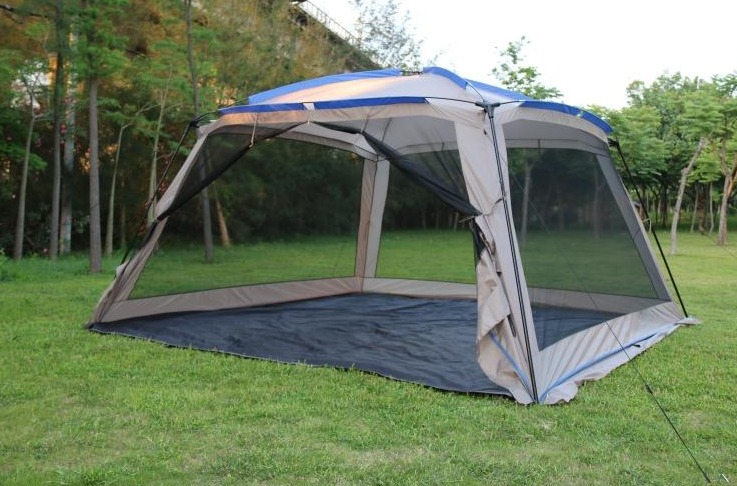 Outdoor Sports 5 8 People Large Beach Canopy UV UPF 50+ Protection Sun Shade Shelter POP UP Pergola Screenhouse Sunwall Waterpro-in Sun Shelter from Sports ... & Outdoor Sports 5 8 People Large Beach Canopy UV UPF 50+ Protection ...