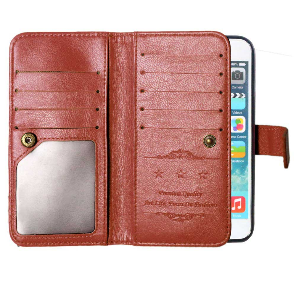 Full Body Cover Business Man Retro PU Leather Back Shell Covers Card Holder Slot for Apple iPhone 7 6s Plus