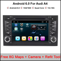 7 Quad Core Android 6 0 1 OS Car DVD For Audi A4 2002 2008 S4