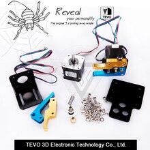 3D Принтер части TEVO Тарантул Двойной Экструдер Обновления Полностью Комплекты Двойной экструдер и 3010 12 В вентилятор охлаждения с двумя Nema 17 шагового двигателя