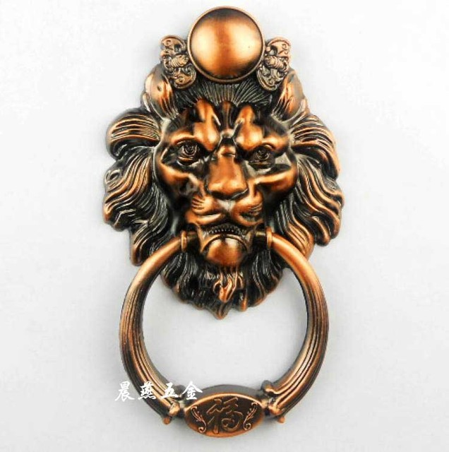 Antique Chinese lion head door knocker doorknob Shoutou spacing of holes6CM free shipping