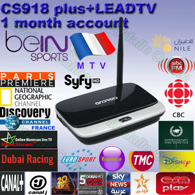 LeadTV Subscription French Arabic IPTV Package Quad Core