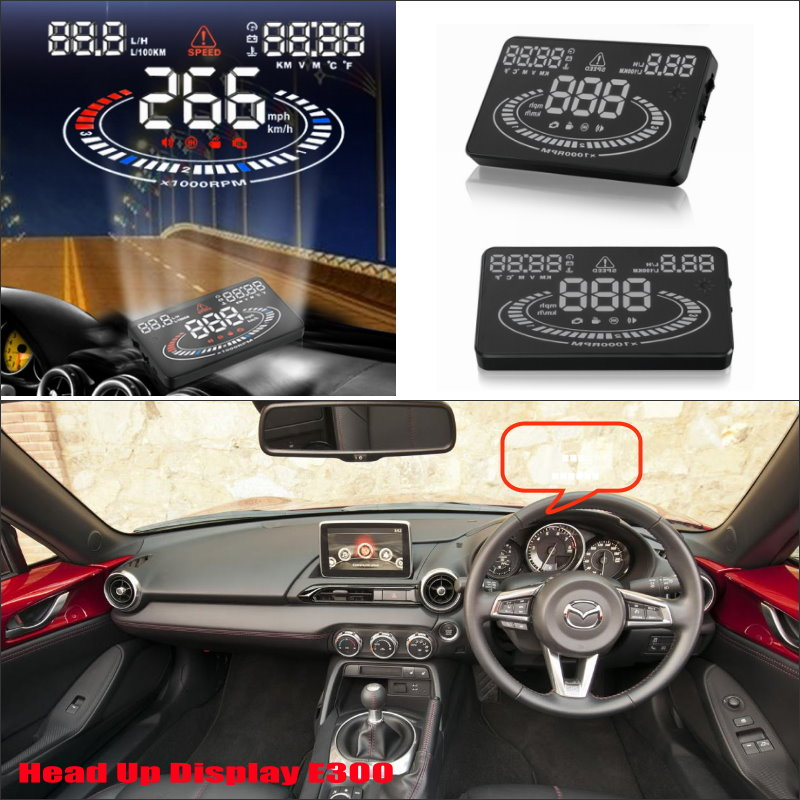 For Mazda MX 5 2015 2016 - Safe Driving Screen Special Automobile HUD Head Up Display Projector Refkecting Windshield car hud head up display for mazda cx 5 cx 5 cx5 2013 2014 2015 refkecting windshield screen safe driving screen projector