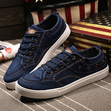 Men Casual Canvas Shoes Fashion Lace-up Denim Canvas Shoes Mens Comfortable Rubber Sole Breathable Shoes Autumn Chaussure Homme стоимость