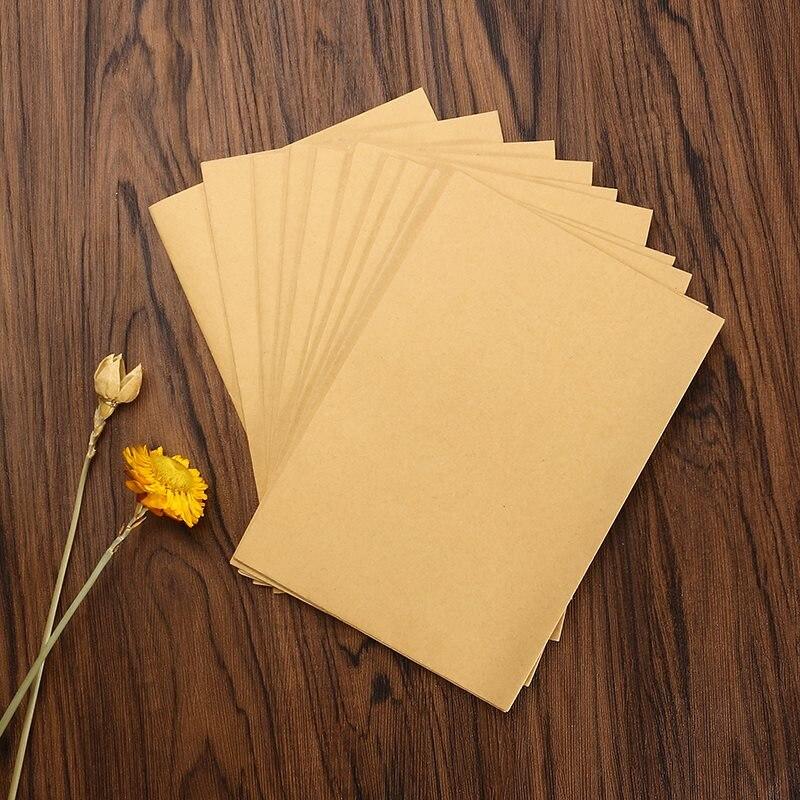 kicute 10 шт./лот крафт-бумага пустой конверты