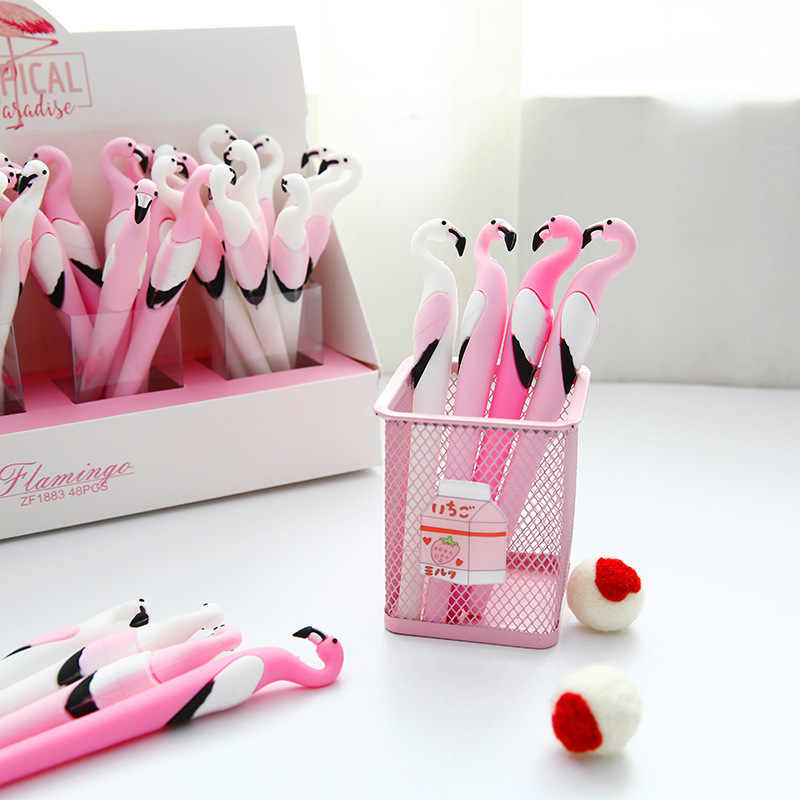 Nieuwe Gel Pen Flamingo Pen Briefpapier Kawaii Schoolbenodigdheden Gel Inkt Pen School Briefpapier Office Leveranciers Pen Kids Geschenken