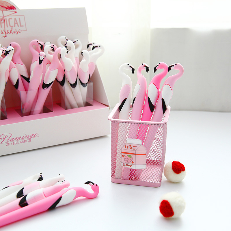 New Gel Pen Flamingo Pen Stationery Kawaii School Supplies Gel Ink Pen School Stationery Office Suppliers Pen Kids Gifts
