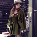 Dabuwawa spring europe style army green strap dress