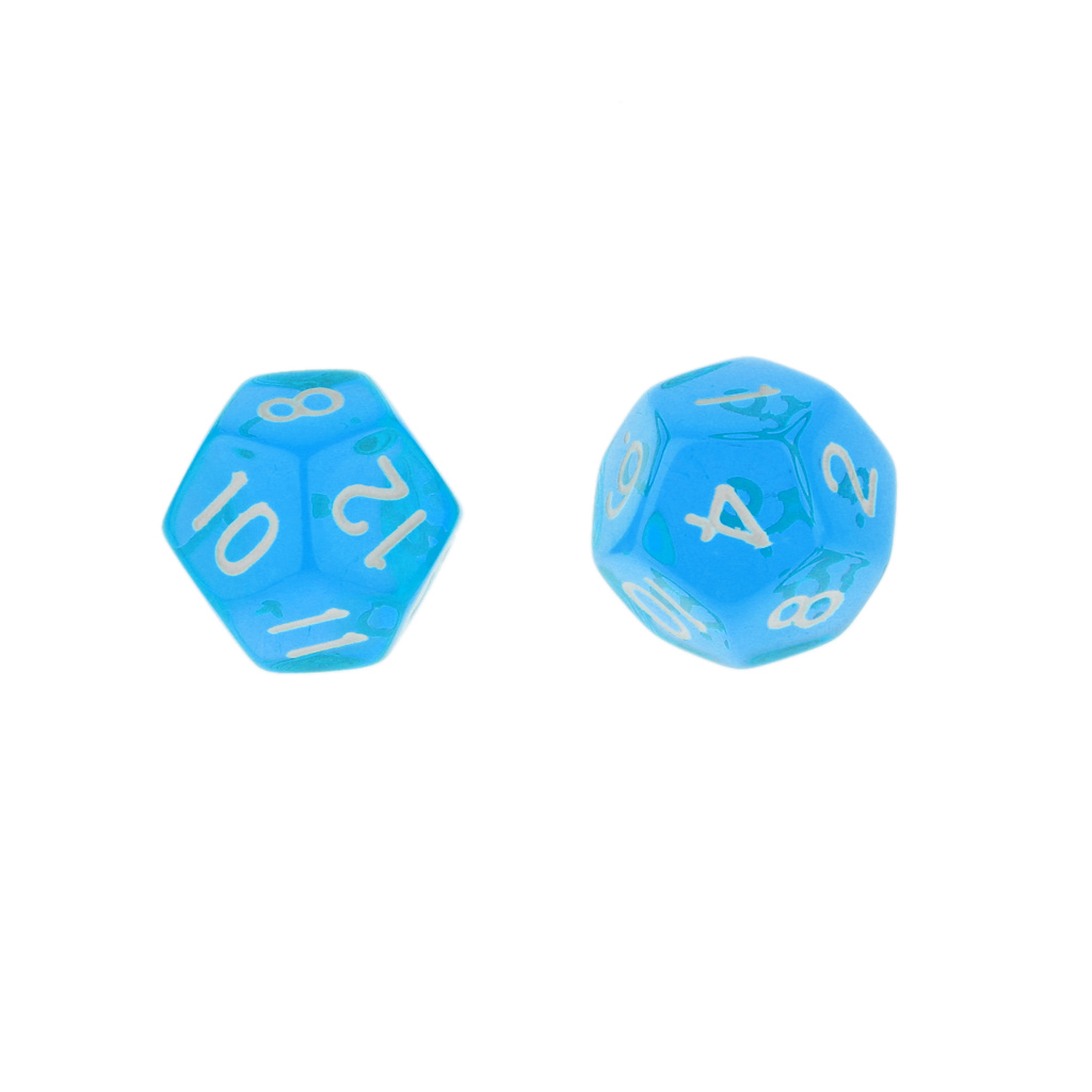 5pcs/Set TRPG Games Dungeons & Dragons D12 Multi Sided Dices Set Party Game Props - Blue