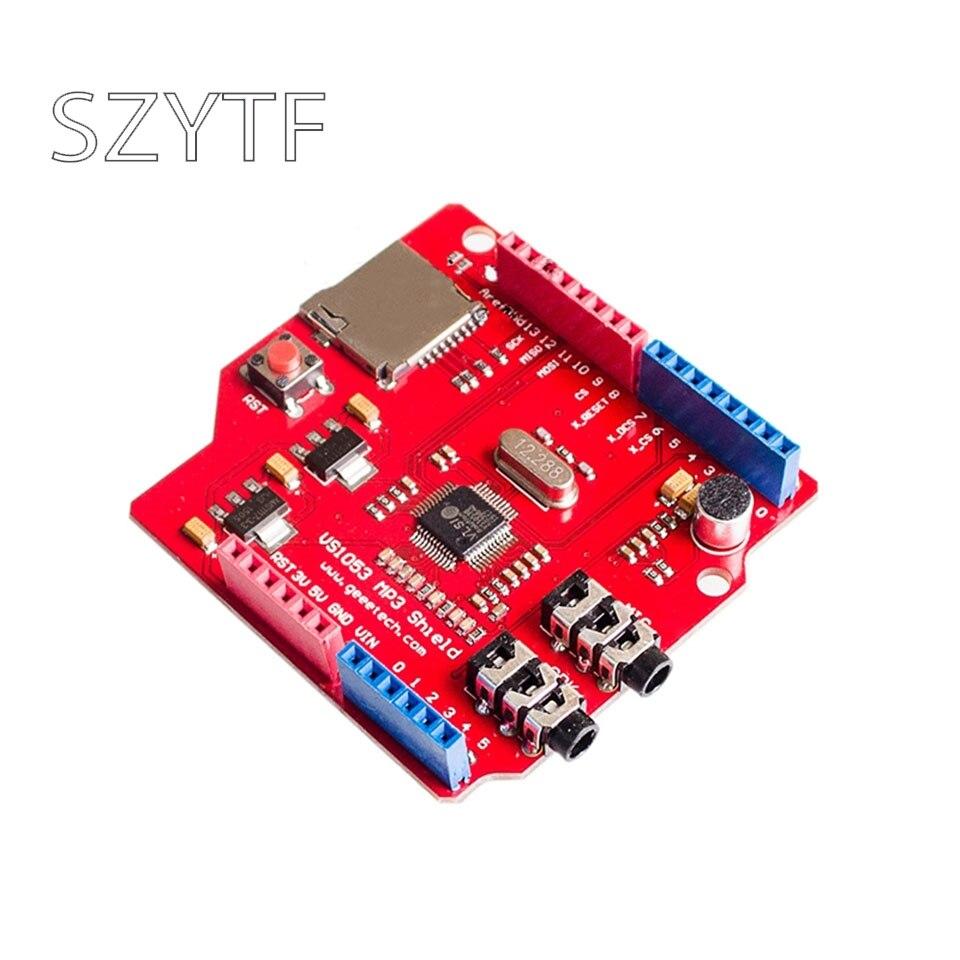 VS1053 VS1053B стерео аудио mp3-плеер щит декодирование Плата развития Модуль с TF слот для карты для Arduino UNO R3 One