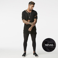 Skinny Jeans Men Black Tight Jeans Men For Weight Loss USA Size Factory Direct Sale High