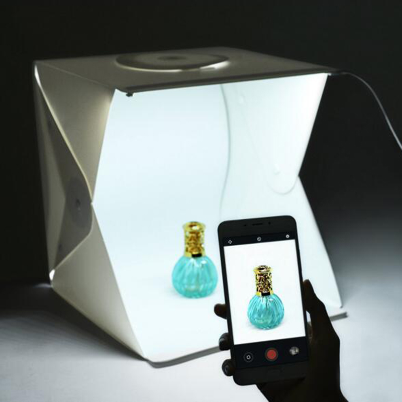 Foldable Mini Photo Studio Light Tent Kit Portable Room: 40cm Mini Folding Photography Stutio LED Light Softbox