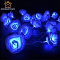 Holiday 2.2M 20 LED Battery Operated Rose String light For Garland Festival Party Wedding Decoration Christmas Flasher Lights