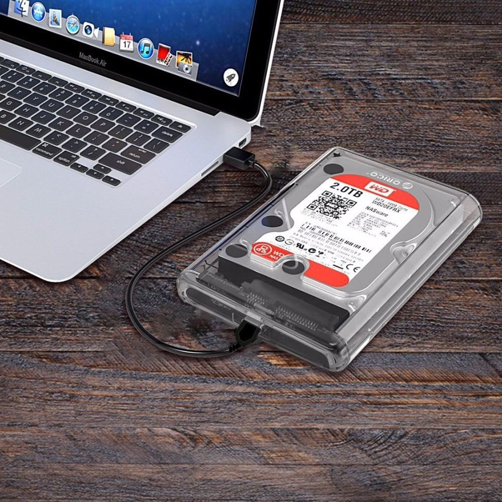 2.5 inch SATA HDD USB 3.1 USB-C / Type-C External Hard Drive Enclosure Storage Case ugreen hdd enclosure sata to usb 3 0 hdd case tool free for 7 9 5mm 2 5 inch sata ssd up to 6tb hard disk box external hdd case