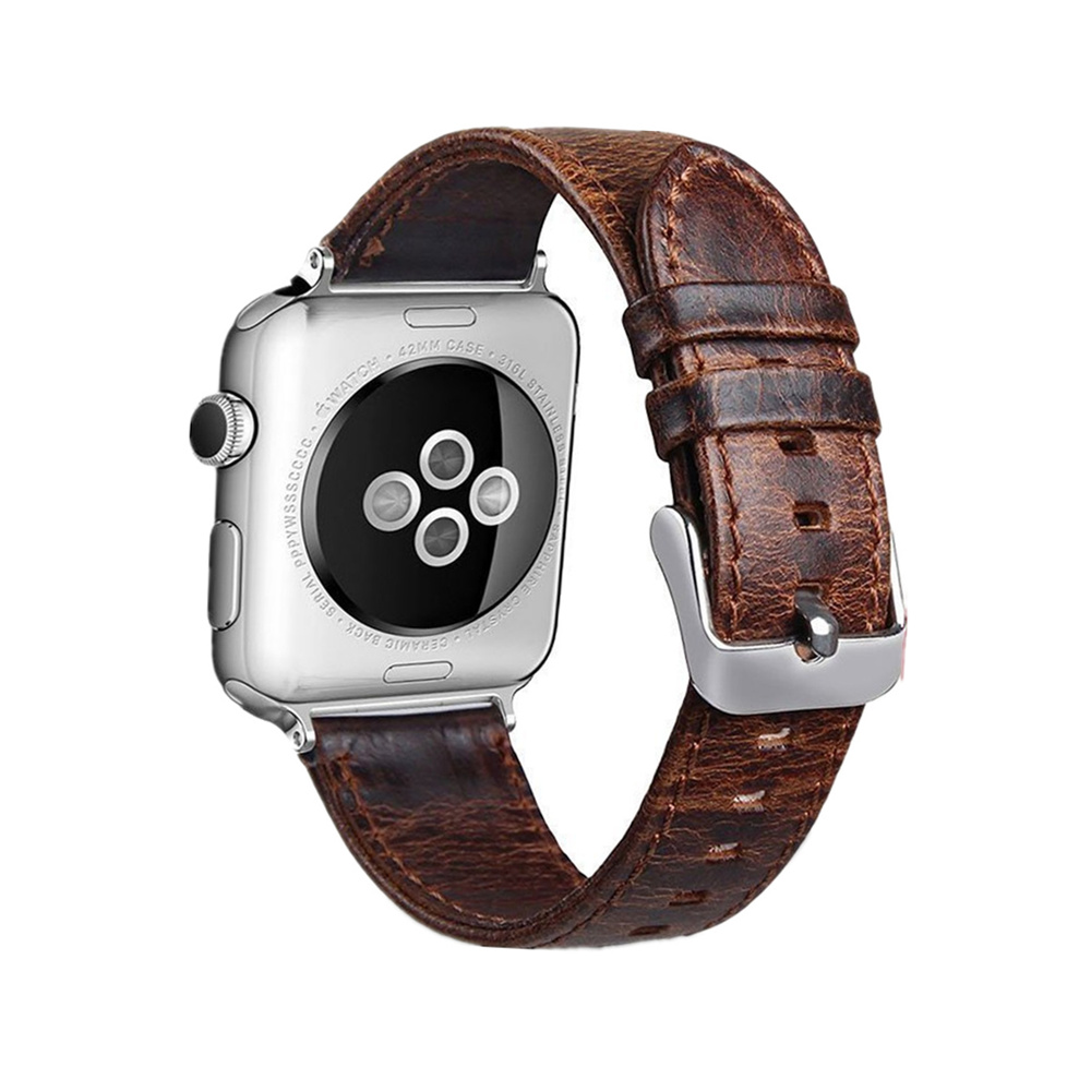 EIMO Genuine leather strap For Apple watch band 42mm/38mm & leather bracelet wrist belt watchband for iwatch series 3/2/1 sport silicone band strap for apple watch nike 42mm 38mm bracelet wrist band watch watchband for iwatch apple strap series 3 2 1