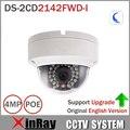 4MP Câmera IP POE IP HIK CamerDS-2CD2142FWD-I Original Dia/noite Infravermelho Dome suporte para Câmera ONVIF IK10 IP67 Proteção Ao Ar Livre