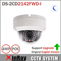 4MP IP CamerDS-2CD2142FWD-I Оригинальный HIK IP POE Камера День/ночь Ик IP67 IK10 Защита Открытый Купольная Камера с поддержкой ONVIF