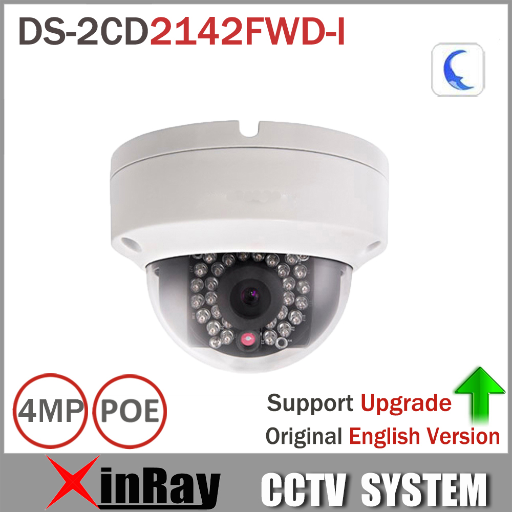 Hikvision 4MP IP Camer DS 2CD2142FWD I IP POE Camera Day night Infrared IP67 IK10 Protection