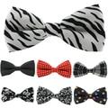 1 peça HOT Sale Mens Tuxedo Bow Tie Unisex Estrela Floral Verifique Polka Dot Stripes Imprimir Bowtie Gravatas