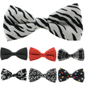 1 piece  HOT Sale Mens Tuxedo Bow Tie  Unisex Floral Star Check Polka Dot Stripes Print Bowtie Neckwear