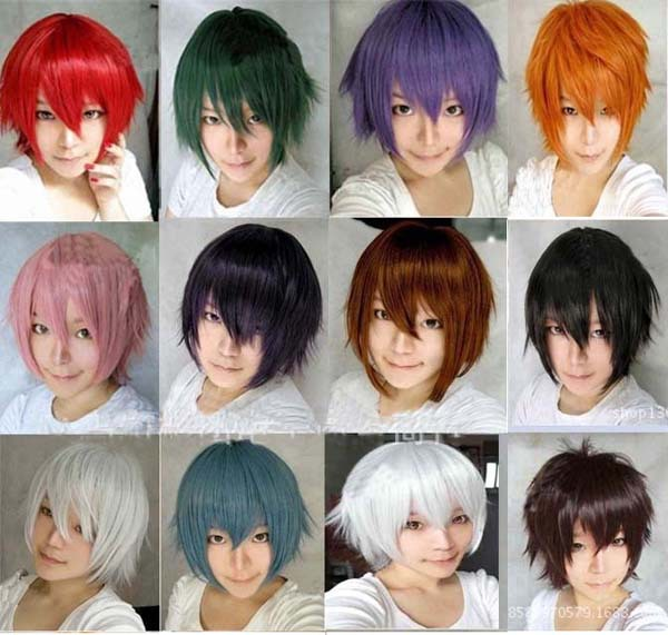 basketball anime boy wig hair