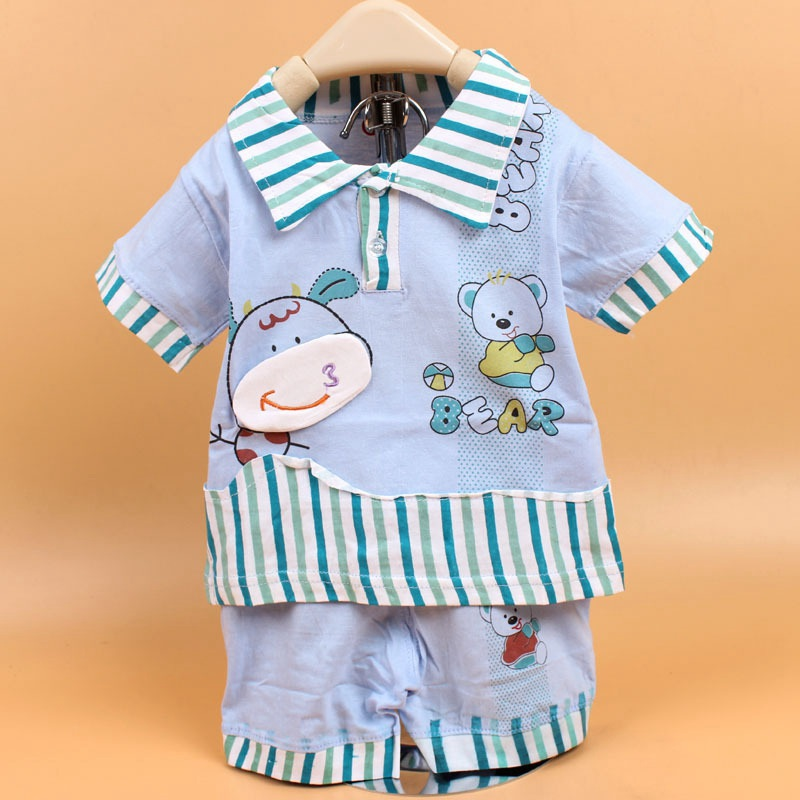 2016 Short-Sleeve Tops T-shirt Baby Girls Boys Children kids + Pants Two Piece Clothing Set Suits PLUS034 2pcs children clothing set baby boys kids bear print long sleeve t shirt tops dots pants outfit baby boys girls clothes