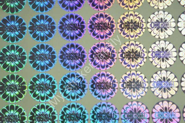 ORIGINELE hologram sticker voor verpakking en producten Kleuren zijn in zilveren en gouden Gratis verzending