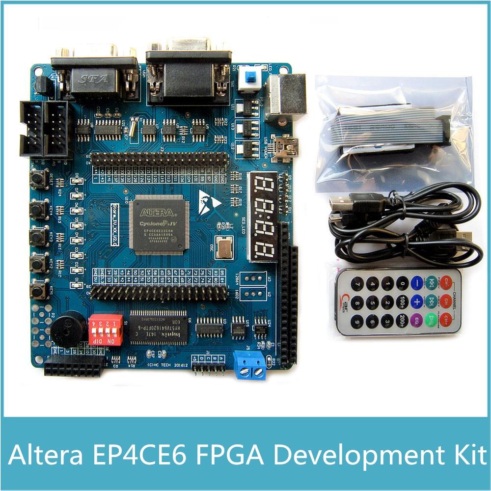Carte FPGA Altera Kit de développement FPGA ALTERA Cyclone IV EP4CE6 USB Blaster ressource matérielle abondante MAX485 RS232