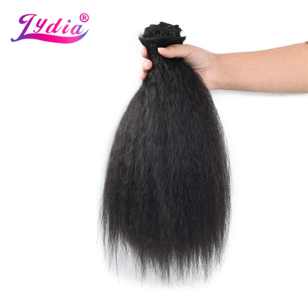 HTB10Uh4L9rqK1RjSZK9q6xyypXaS - Lydia 8Pcs/set 18 Clips In Hair Hairpieces 16-20 Inch Kinky Straight Long Synthetic Heat Resistant Hair Extensions Bundles