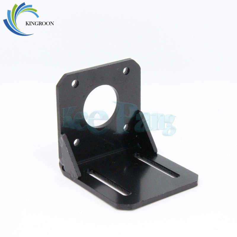 KINGROON NEMA 17 Mounting L Bracket Mount Stepper Motor Bracket 3D Printer Black 42mm Alloy Steel Holder For Motor Parts aluminium alloy mounting bracket for nema 17 stepper motor geared stepper motor