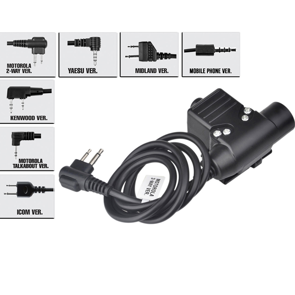 Z Tactical Headphone U94 PTT For KENWOOD Plug Walkie Talkie BaoFeng UV-82 Radio Headset PTT U94 Airsoft Z113