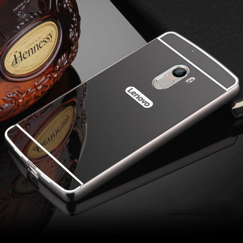 huge selection of a81cd aca6e US $9.68 |For Lenovo X3 Lite Mirror Case Luxury Aluminum Metal Frame  &Acrylic Back Cover For Lenovo X3 Lite K51c78/K4 Note/Lenovo A7010 on ...
