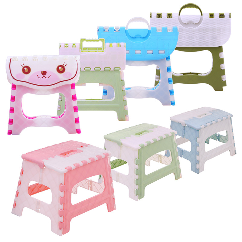 Plastic Folding Chair Stool Kids Portable Outdoor Camping Stool Chair