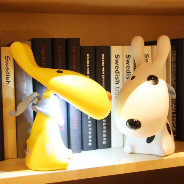 Encantador dos desenhos animados Dog LED Desk Lamp RechargeableTable lâmpada para início de aprendizagem descontraído de leitura LED Night Light