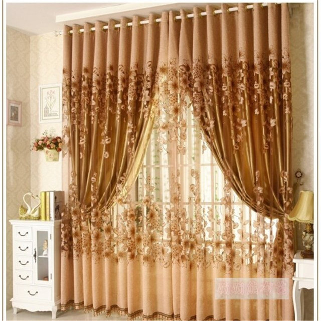 1 Pc Curtain And 1 Pc Tulle Peony Luxury Window Curtains: Aliexpress.com : Buy 2017 The New Luxury Window Living