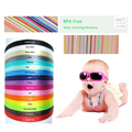 DIY Jewelry 50m/pcs Satin Cords For Silicone Teething Necklace DIY Accessary String Bracelet Silicone Necklace Cord Nylon