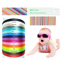 DIY Jewelry 50m Pcs Satin Cords For Silicone Teething Necklace DIY Accessary String Bracelet Silicone Necklace